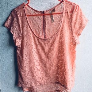 Eyeshadow Pink See Through Top size Small